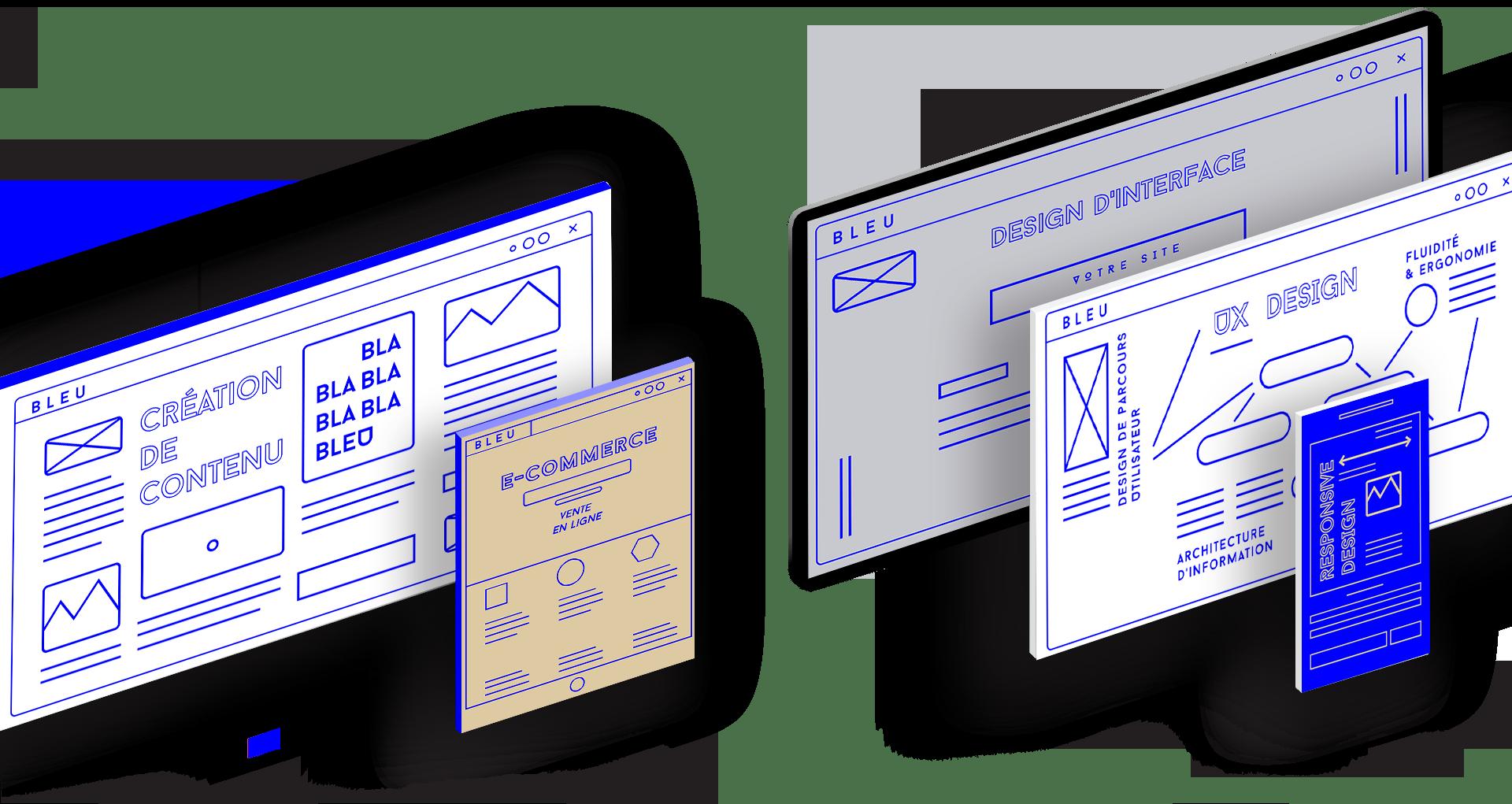 visuel graphique pour la création de site internet